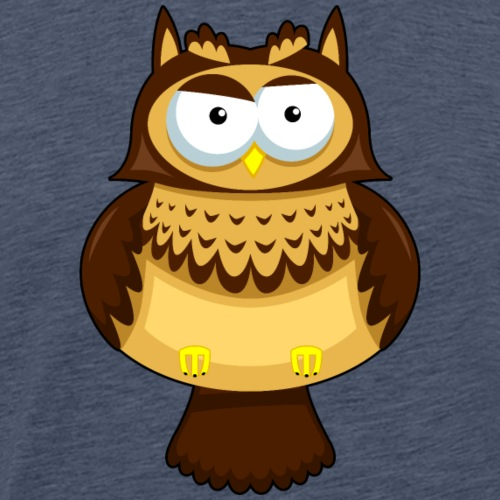 Funny cartoon owl bird animal wildlife cool image - Men's Premium T-Shirt