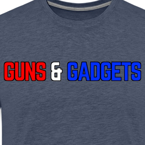 Guns & Gadgets Logo for LIGHT COLORED products - Men's Premium T-Shirt