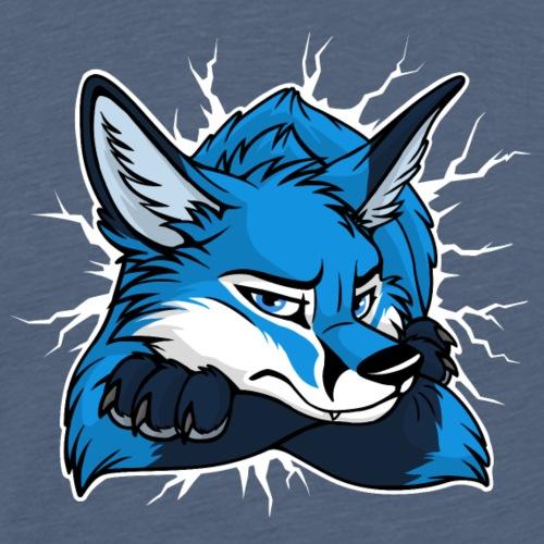 STUCK grumpy Fox Blue (double-sided) - Men's Premium T-Shirt