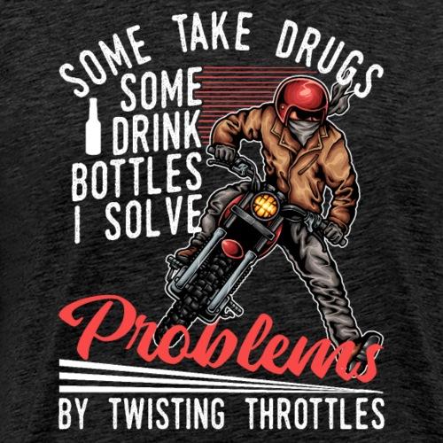 Motocross Dirt Bike Solve Problems - Men's Premium T-Shirt