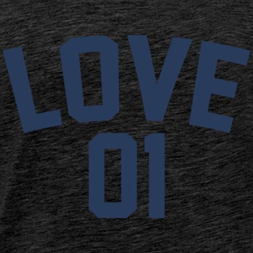 Love 01 (Blue Letters) - Men's Premium T-Shirt