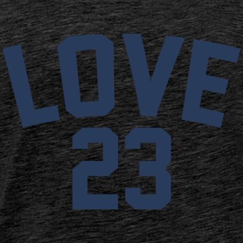 Love - Jersey Design (Navy Blue Letters) - Men's Premium T-Shirt