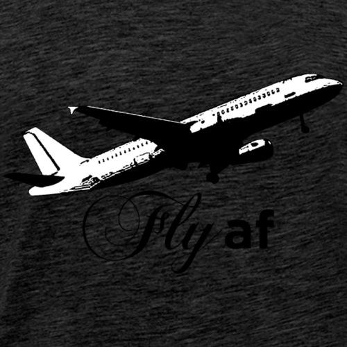 Fly af - Airplane Design (Black) - Men's Premium T-Shirt