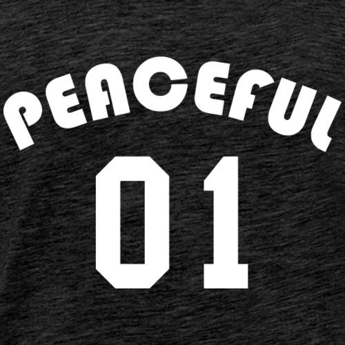 Peaceful 01 - Team Design (White Letters) - Men's Premium T-Shirt