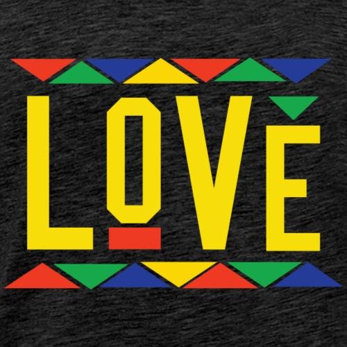 Love - Tribal Design (Yellow Letters) - Men's Premium T-Shirt