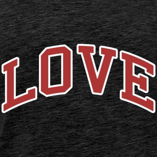 Love - Collegiate Design (Red/White Letters) - Men's Premium T-Shirt