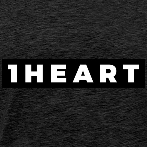 One Heart (White/Black Border) - Men's Premium T-Shirt