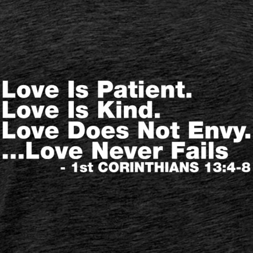 Love Bible Verse - Men's Premium T-Shirt