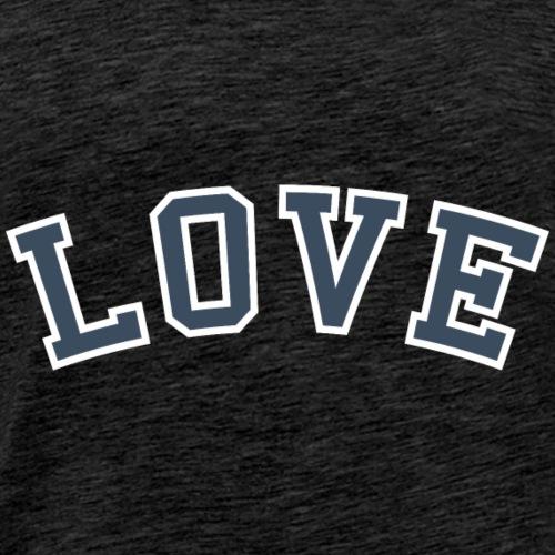 Love - Collegiate (Blue/White) - Men's Premium T-Shirt