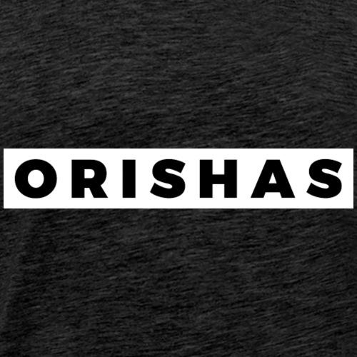 ORISHAS (Black/White Border) - Men's Premium T-Shirt