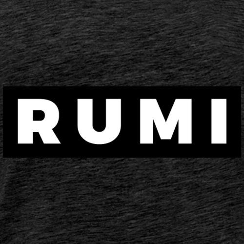 Rumi (White/Black Border) - Men's Premium T-Shirt