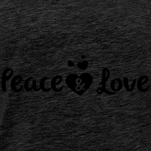 Peace & Love - Men's Premium T-Shirt