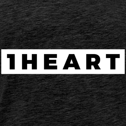 One Heart (Black/White Border) - Men's Premium T-Shirt