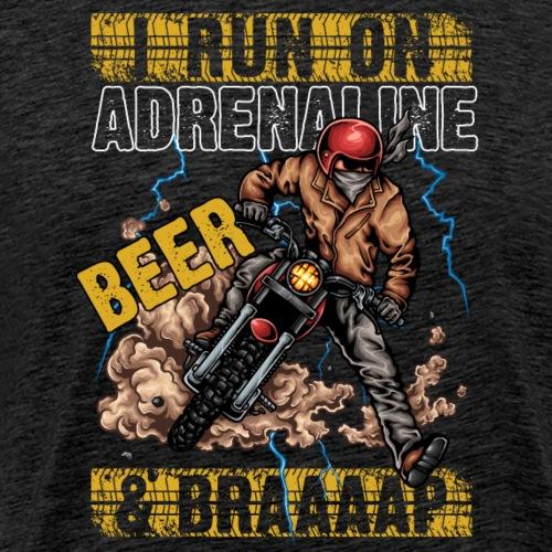 Motocross BEER And BRAAAAAP - Men's Premium T-Shirt