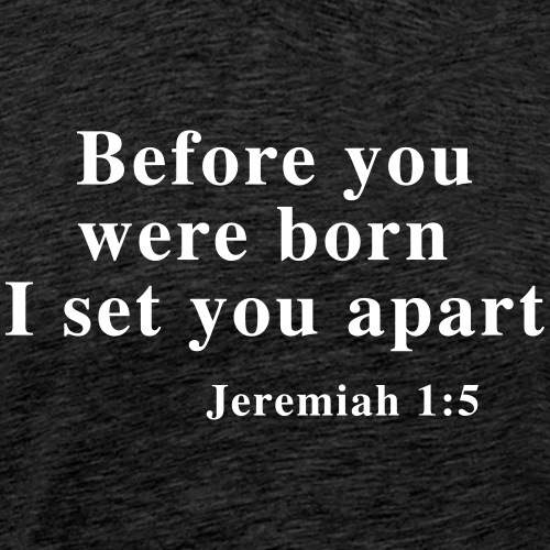 Before you were born I set you apart Jeremiah 1:5 - Men's Premium T-Shirt