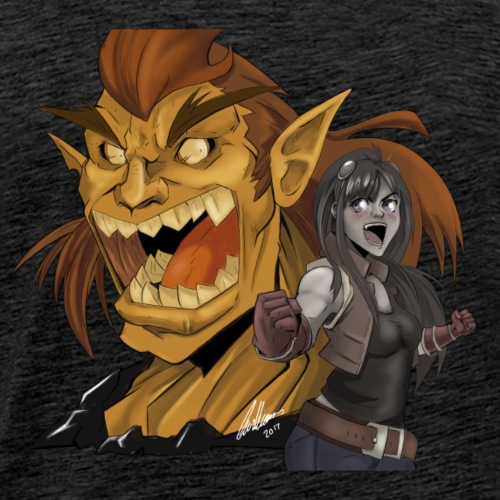 Fighter and the Demon - Men's Premium T-Shirt