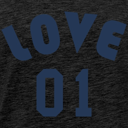 Love 01 - Team Design (Navy Blue Letters) - Men's Premium T-Shirt