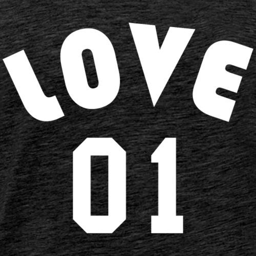 Love 01 - Team Design (White Letters) - Men's Premium T-Shirt