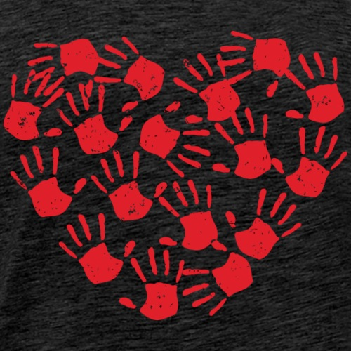 Handprint Heart - Men's Premium T-Shirt