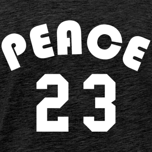 Peace - Team Design (White Letters) - Men's Premium T-Shirt