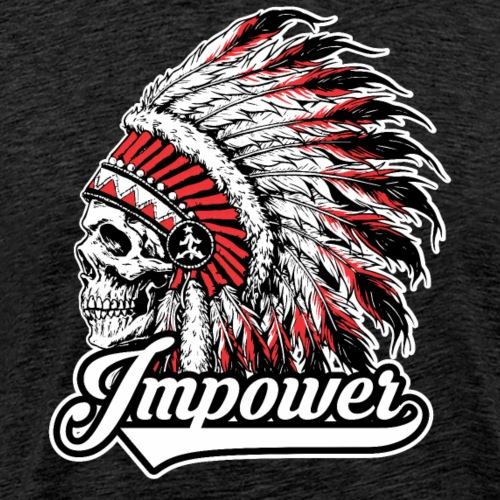 Impower Chief Skull Design - Men's Premium T-Shirt