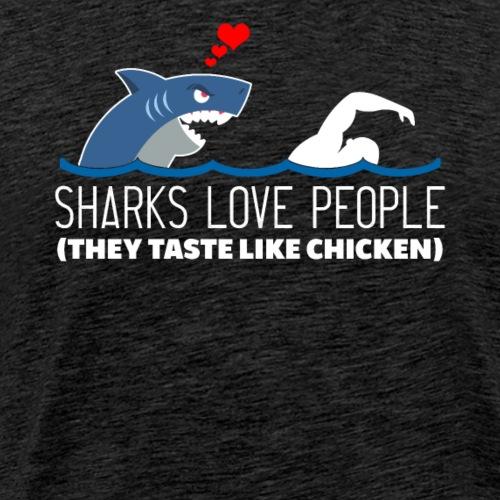 Sharks Love People - Men's Premium T-Shirt