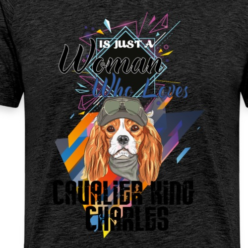 who loves cavalier king charles - Men's Premium T-Shirt