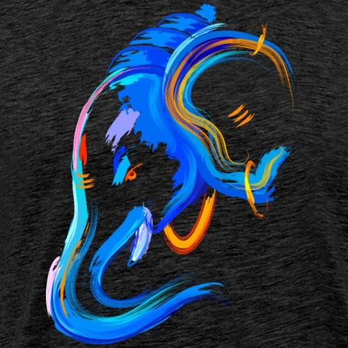 Elephant head watercolor painting wildlife animal - Men's Premium T-Shirt