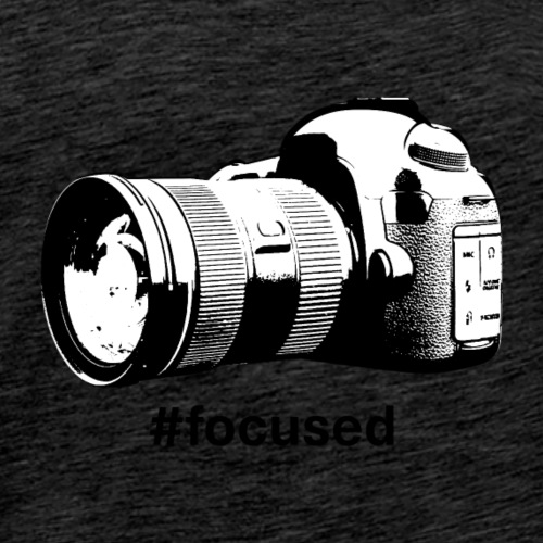 Focused - Camera Design (Black Letters) - Men's Premium T-Shirt