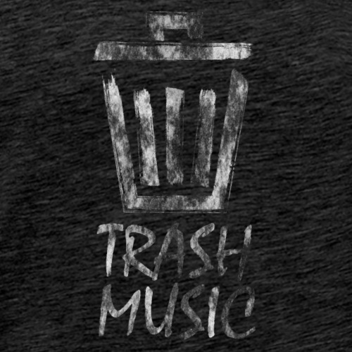 Trash Music Logo Black - Men's Premium T-Shirt