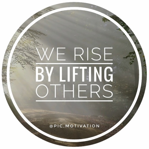 rise by lifting others - Men's Premium T-Shirt