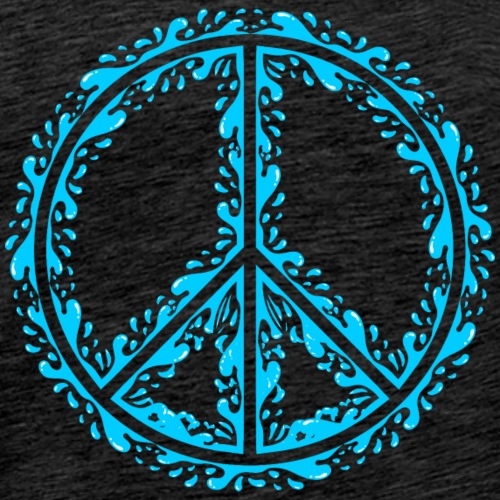 Liquid Peace Sign - Men's Premium T-Shirt
