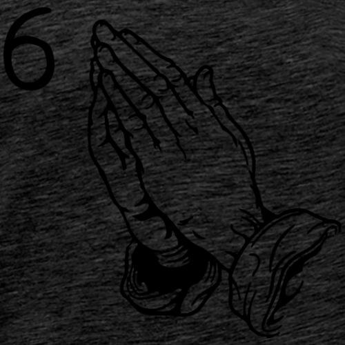Six God (Black Letters) - Men's Premium T-Shirt