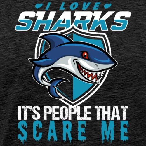 I Love Sharks - Men's Premium T-Shirt