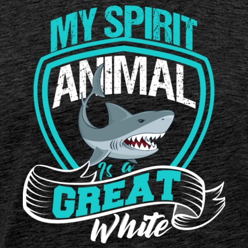 GREAT WHITE Shark Spirit Animal - Men's Premium T-Shirt