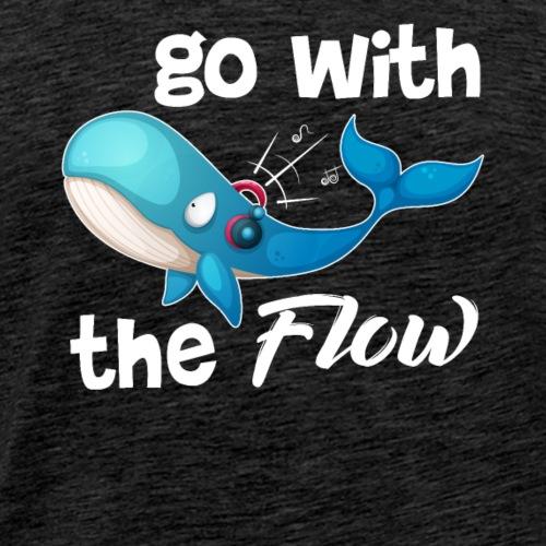 Whale Go With The Flow - Men's Premium T-Shirt