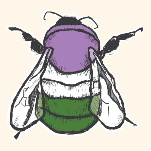 Genderqueer Bee - Men's Premium T-Shirt