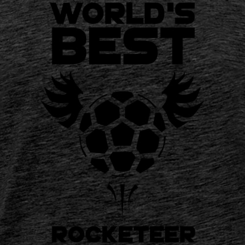 World's Best Rocketeer Black - Men's Premium T-Shirt