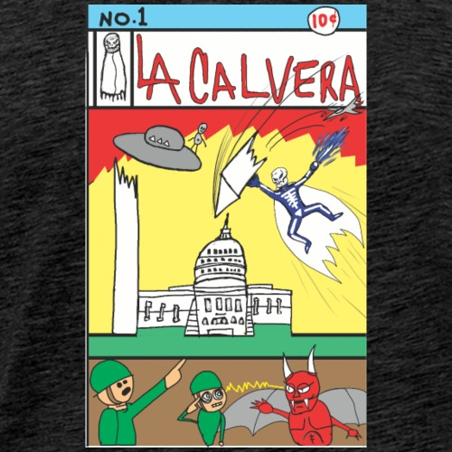 LA CALAVERA: COMIC BOOK COVER NO. 1 - Men's Premium T-Shirt