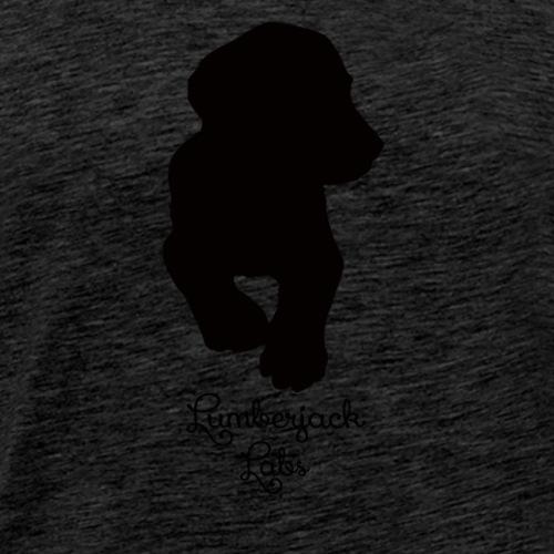 Black Labrador Puppy - Men's Premium T-Shirt
