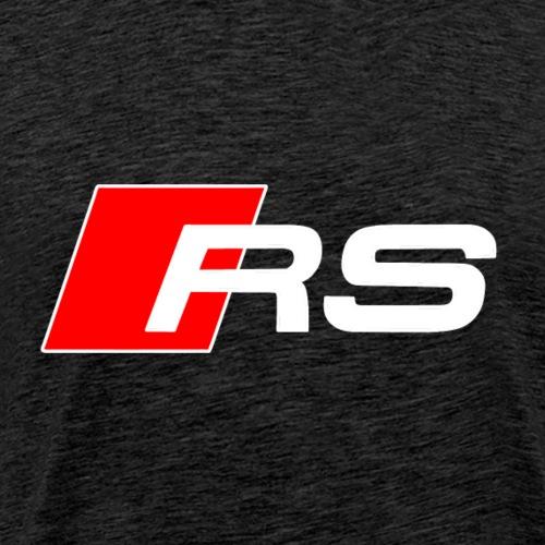 RS logo red white - Men's Premium T-Shirt