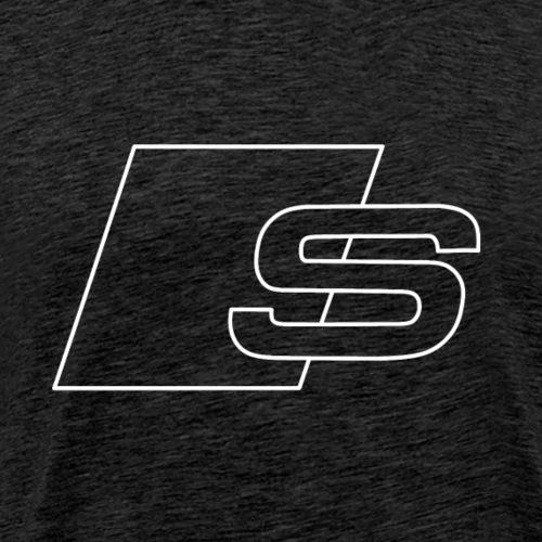 S logo white - Men's Premium T-Shirt