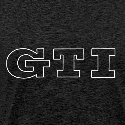 gti logo white - Men's Premium T-Shirt