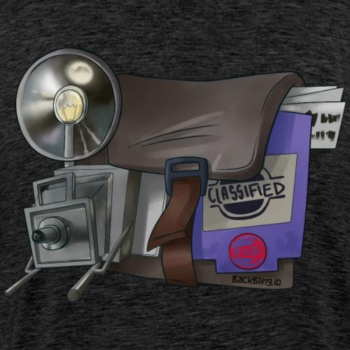 Briefcase Back Bling - Men's Premium T-Shirt