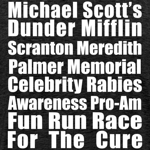 Michael Scott's Fun Run Race - Men's Premium T-Shirt