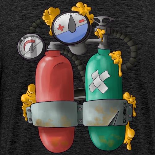 SCUBA Back Bling - Men's Premium T-Shirt