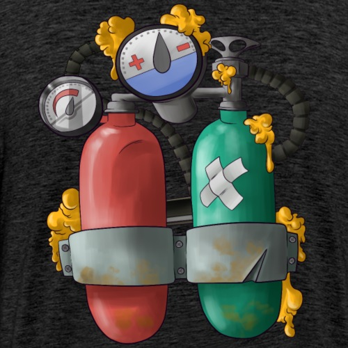 Mertank Back Bling - Men's Premium T-Shirt