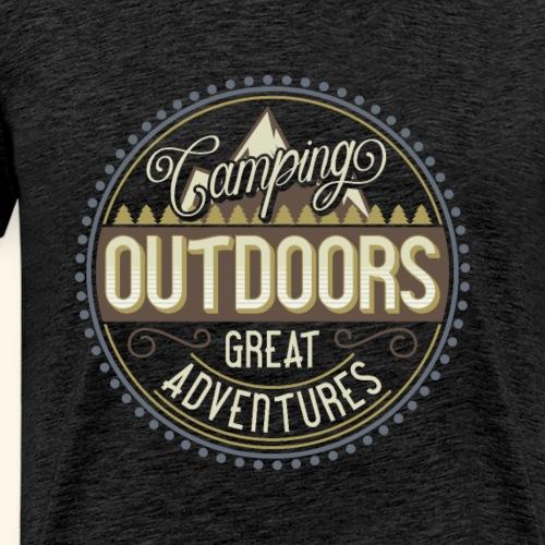 0418 Oleg Camping font S4 - Men's Premium T-Shirt