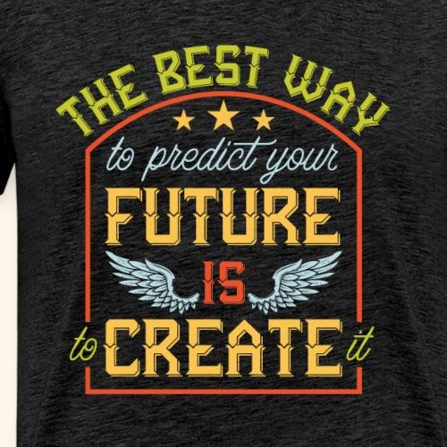 0418 Oleg Futuristic font S5 - Men's Premium T-Shirt