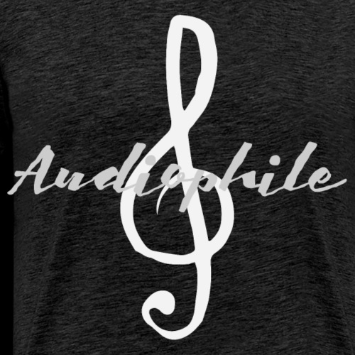 Audiophile Treble Clef - Men's Premium T-Shirt